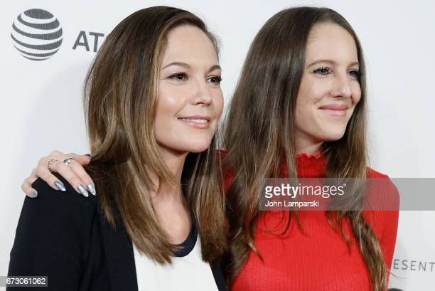 Diane Lane and Eleanor Lambert attend Paris Can Wait during the 2017 Tribeca Film Festival at BMCC Tribeca PAC on April 25 2017 in New York City