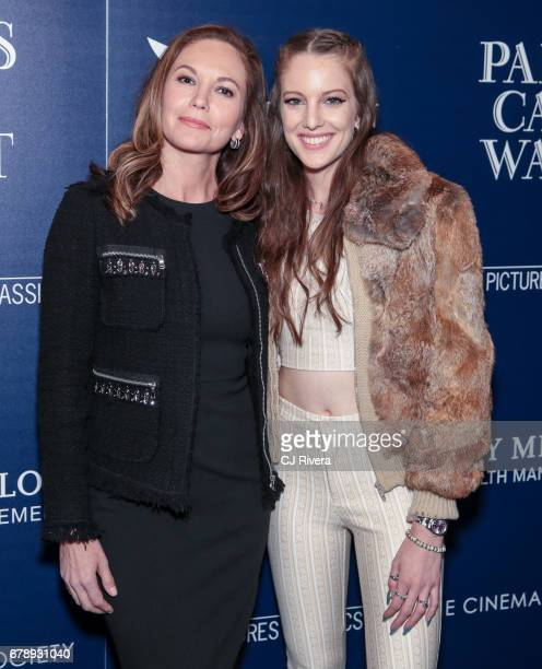 Diane Lane and Eleanor Lambert attend The Cinema Society screening of Sony Pictures Classics' 'Paris Can Wait' at Landmark Sunshine Cinema on May 4...