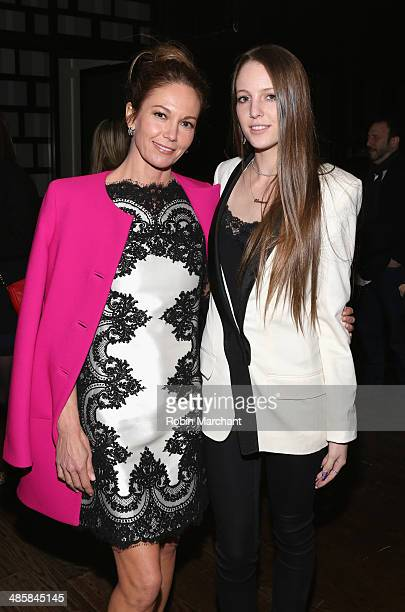 Diane Lane and Eleanor Lambert attend the Every Secret Thing Premiere after party during the 2014 Tribeca Film Festival at Thom Bar on April 20 2014...
