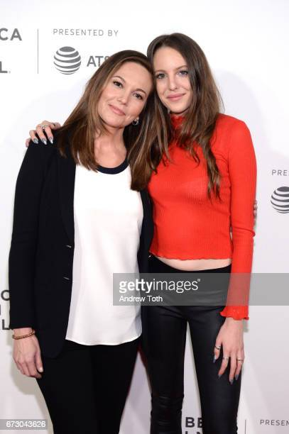 Diane Lane and Eleanor Lambert attend the Paris Can Wait premiere during the 2017 Tribeca Film Festival at BMCC Tribeca PAC on April 25 2017 in New...