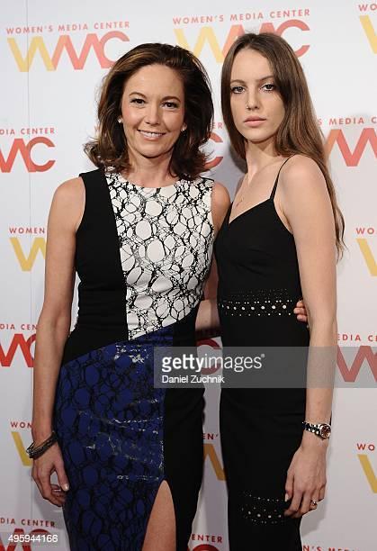 Diane Lane and Eleanor Lambert attend The Women's Media Center 2015 Women's Media Awards at Capitale on November 5 2015 in New York City