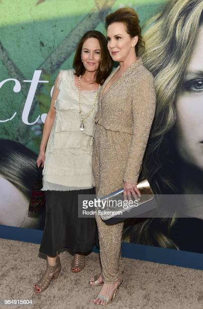 Diane Lane and Elizabeth Perkins attend the Los Angeles premiere of the HBO limited series Sharp Objects at ArcLight Cinemas Cinerama Dome on June 26...