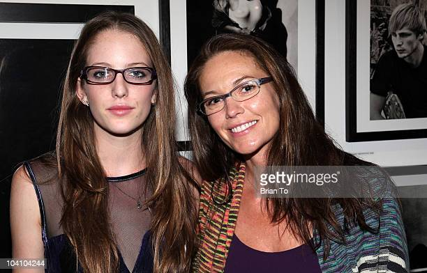 "Diane Lane and her daughter Eleanor Jasmine Lambert attend a private reception and dinner for ""Greg Gorman: A Distinctive Vision 1970-2010"" at..."