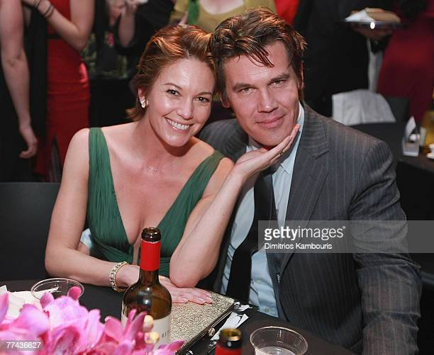 Diane Lane and Josh Brolin arrive at the after party for American Gangster New York City Premiere at The Apollo Theater on October 19 2007 in New...