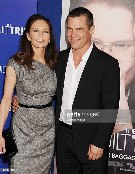 Diane Lane and Josh Brolin arrive at the 'The Guilt Trip' Los Angeles Premiere at Regency Village Theatre on December 11 2012 in Westwood California