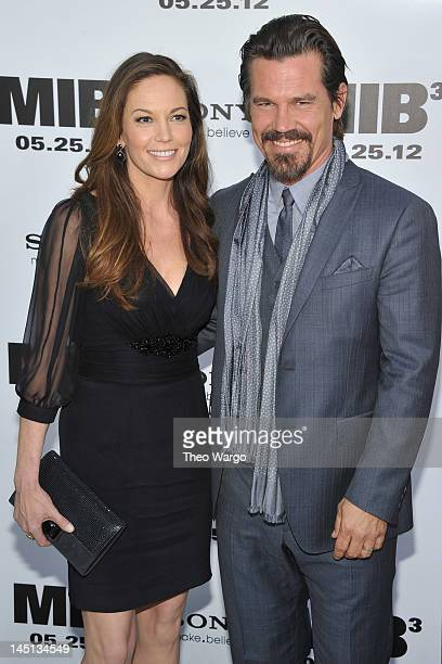 Diane Lane and Josh Brolin attend the Men In Black 3 New York Premiere at Ziegfeld Theatre on May 23 2012 in New York City