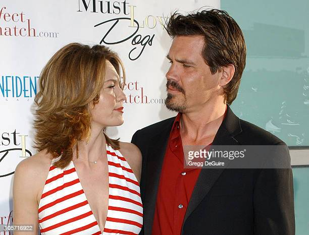 "Diane Lane and Josh Brolin during ""Must Love Dogs"" Los Angeles Premiere at Cinerama Dome in Hollywood, California, United States."