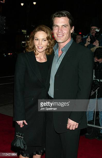 Diane Lane and Josh Brolin during The 2002 New York Film Critics Circle 68th Annual Awards Dinner Outside Arrivals at Noche Restaurant in New York...