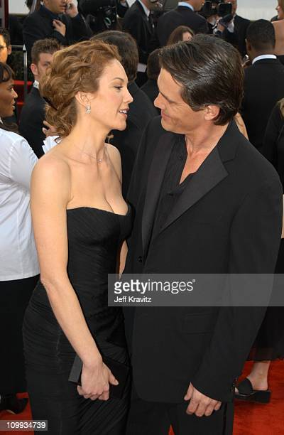 Diane Lane and Josh Brolin during The 60th Annual Golden Globe Awards Arrivals at Beverly Hilton Hotel in Beverly Hills CA United States