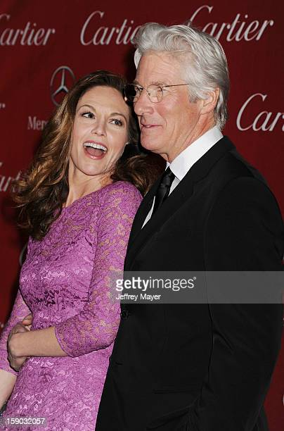 Diane Lane and Richard Gere arrive at the 24th Annual Palm Springs International Film Festival Awards Gala at Palm Springs Convention Center on...
