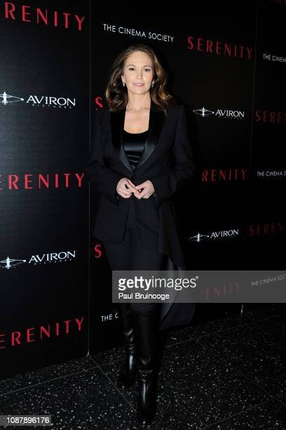 Diane Lane attends Aviron Pictures With The Cinema Society Host A Special Screening Of Serenity at Museum of Modern Art on January 23 2019 in New...