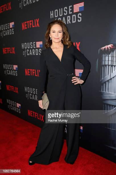 Diane Lane attends House of Cards Season 6 World Premiere on October 22 2018 in Los Angeles California