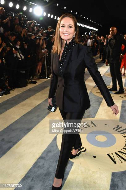 Diane Lane attends the 2019 Vanity Fair Oscar Party hosted by Radhika Jones at Wallis Annenberg Center for the Performing Arts on February 24 2019 in...