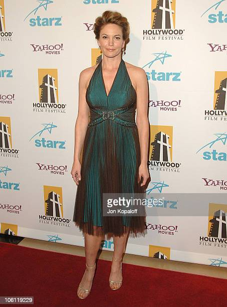 Diane Lane during Hollywood Film Festival 10th Annual Hollywood Awards Arrivals at Beverly Hilton Hotel in Beverly Hills California United States