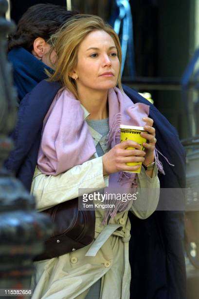 Diane Lane during On The Set of 'Unfaithful' at New York City in New York City New York United States