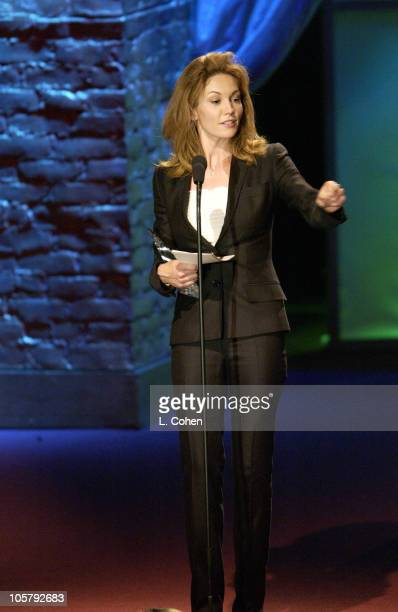 Diane Lane honored with the Crystal Award during 2003 Women In Film Crystal Lucy Awards Show at Century Plaza Hotel in Los Angeles California United...