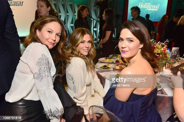 Diane Lane Rita Wilson and Mandy Moore attend the Hollywood Reporter's 27th Annual Women In Entertainment Breakfast on December 5 2018 in Los Angeles...