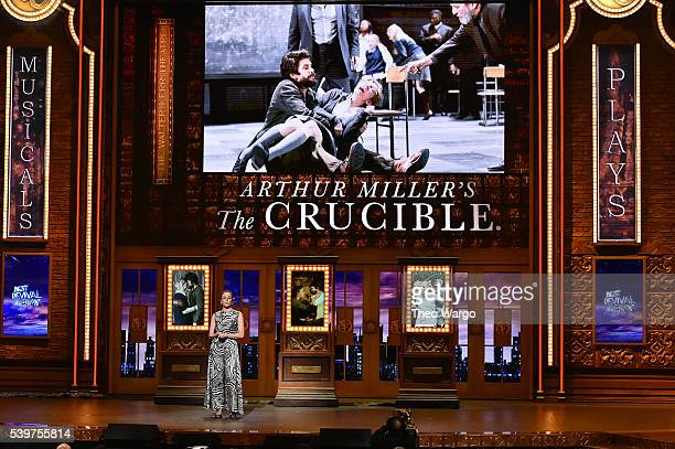 Diane Lane speaks onstage during the 70th Annual Tony Awards at The Beacon Theatre on June 12 2016 in New York City