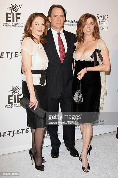 Diane Lane Tom Hanks and Rita Wilson during Saks Fifth Avenue's Unforgettable Evening Benefit for EIF's Women's Cancer Research Fund Arrivals at...