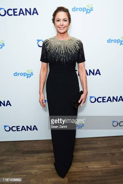 Diane Lane wearing Pamella Roland dress, Jordan Askill jewelry and Tyler Ellis clutch at OCEANA 2019 NY Event Gala Honoring Diane Lane and Simon...