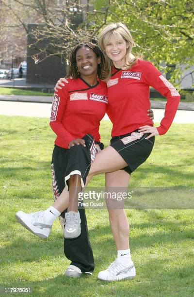 Diane Louise Jordan and Anthea Turner The Celebrity team is running in aid of MBT and Oasis UK Helping Children Step Into A Better Future
