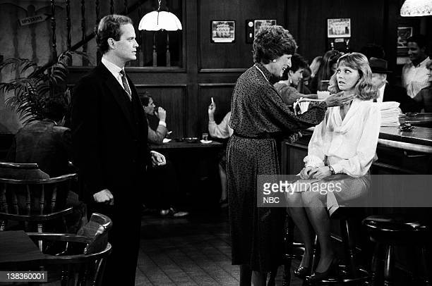 CHEERS Diane Meets Mom Episode 8 Air Date Pictured Kelsey Grammer as Dr Frasier Crane Nancy Marchand as Dr Hester Crane Shelley Long as Diane Chambers