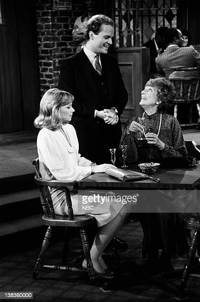 CHEERS Diane Meets Mom Episode 8 Air Date Pictured Shelley Long as Diane Chambers Kelsey Grammer as Dr Frasier Crane Nancy Marchand as Dr Hester Crane