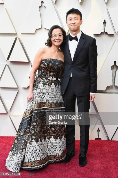 Diane Moy Quon and Bing Liu attend the 91st Annual Academy Awards at Hollywood and Highland on February 24 2019 in Hollywood California