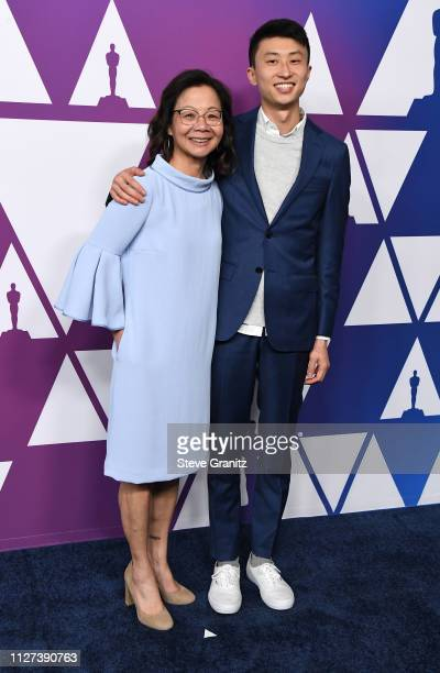 Diane Moy Quon and Bing Liu attend the 91st Oscars Nominees Luncheon at The Beverly Hilton Hotel on February 04 2019 in Beverly Hills California