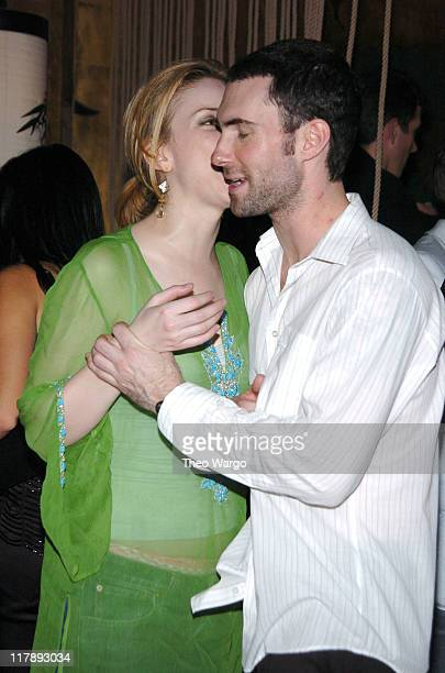 Diane Neal and Adam Levine of Maroon 5 during Maria Sharapova's 18th Birthday Party Sponsored by Motorola at Hiro Ballroom in New York City New York...