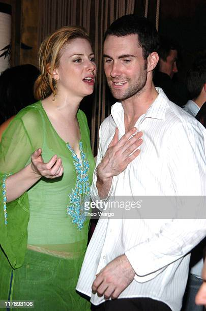 Diane Neal and Adam Levine of Maroon 5 during Maria Sharapova's 18th Birthday Party Sponsored by Motorola at Hiro Ballroom in New York City New York...