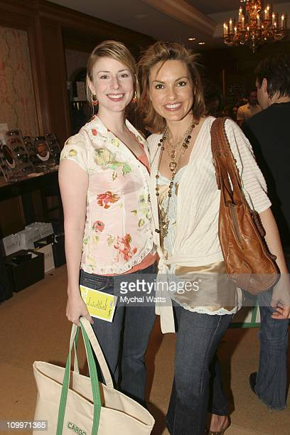 Diane Neal and Mariska Hargitay during Lucky/Cargo Club Day 3 at The Ritz Carlton Central Park South in New York City New York United States