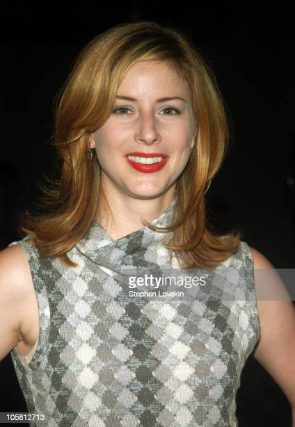 Diane Neal during Olympus Fashion Week Spring 2005 David Rodriguez Front Row at Mao Space in New York New York United States