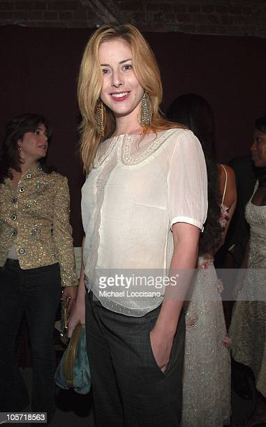 Diane Neal during Olympus Fashion Week Spring 2006 Badgley Mischka Front Row and Backstage at 261 11th Ave in New York City New York United States