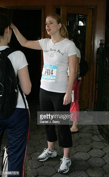 SVU and Celebrity Ambassador for Circle of Friends New York at the Mini10K in Central Park on Saturday June 11 2005 in New York