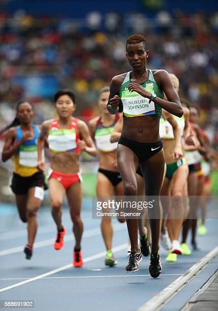 Diane NukuriJohnson of Burundi competes in the Women's 10000 metres final on Day 7 of the Rio 2016 Olympic Games at the Olympic Stadium on August 12...