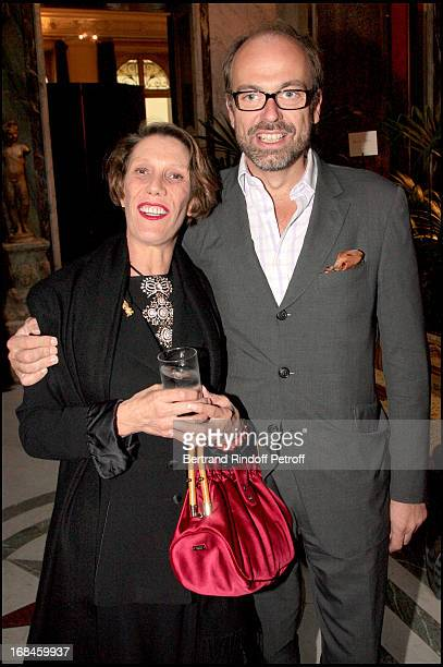 Diane of Beauvau Craon and Charles Emmanuel de Rohan Chabot at Opening Exhibition Of Joy De Rohan Chabot Les Jardins Immobiles At Musee Jacquemart...