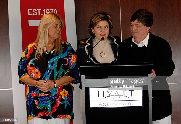 Diane Olson Gloria Allred and Robin Tyler are honored at the Los Angeles LGBT Pride Honorees Brunch on June 1 2008 in Los Angeles California