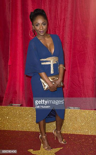 Diane Parish arrives for British Soap Awards 2016 at Hackney Empire on May 28 2016 in London England