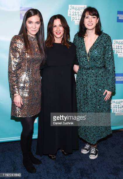 Diane Paulus Alanis Morissette and Diablo Cody attend the after party of the opening night of the broadway show Jagged Little Pill at Broadhurst...