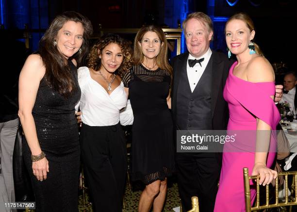 Diane Paulus Daphne RubinVega James Higgins and Elizabeth Stanley attend The American Theatre Wing's 2019 Gala at Cipriani 42nd Street on September...