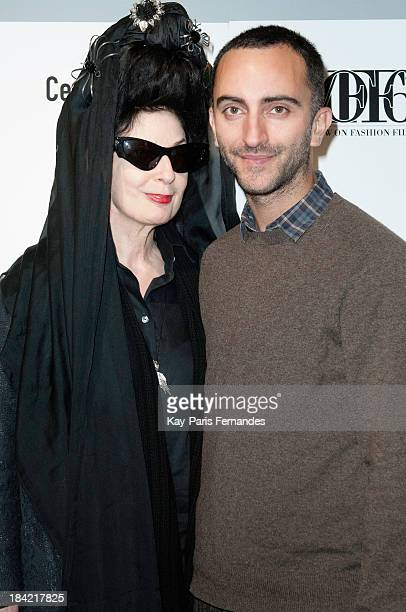 Diane Pernet and Philip Fimmano during the second day for A Shaded View On Fashion Film at the Centre Pompidou on October 12 2013 in Paris France