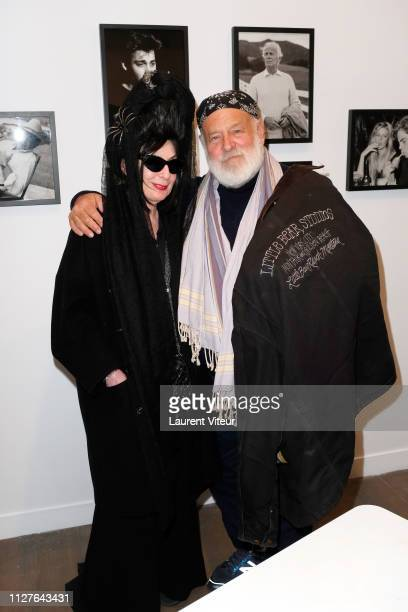 Diane Pernet and Photographer Bruce Weber attend Bruce Weber sign his book Mitchum x Weber during Nice Girls don't stay for breakfast Exhibition on...