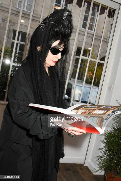 Diane Pernet attends the 'Bel RP' 10th Anniversary at Atelier Sevigne on April 10 2018 in Paris France