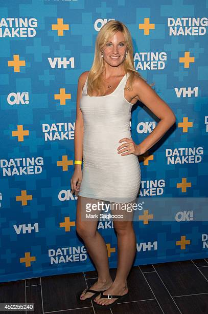 Diane Poulos attends the Dated Naked series premiere at the Gansevoort Park Avenue Hotel on July 16 2014 in New York City