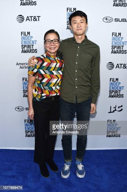 Diane Quon and Bing Liu attend the 2019 Film Independent Spirit Awards nominee brunch at BOA Steakhouse on January 5 2019 in West Hollywood California