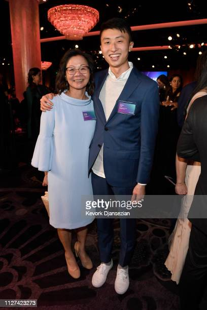 Diane Quon and Bing Liu attends the 91st Oscars Nominees Luncheon at The Beverly Hilton Hotel on February 04 2019 in Beverly Hills California