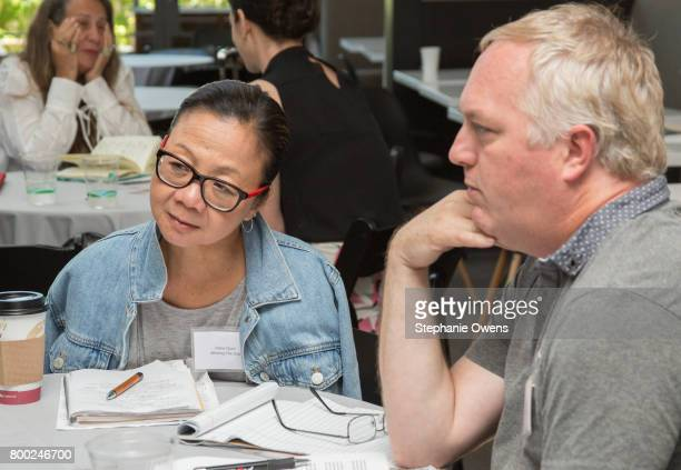 Diane Quon Fast Track Fellow John Shepherd New Republic Pictures attend Fast Track Session during the 2017 Los Angeles Film Festival on June 21 2017...