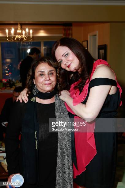 Diane Reverand and Dee Dee Sorvino during the Paul Dee Dee Sorvino celebrate their new book Pinot Pasta Parties at 200 East 57th Street on April 25...