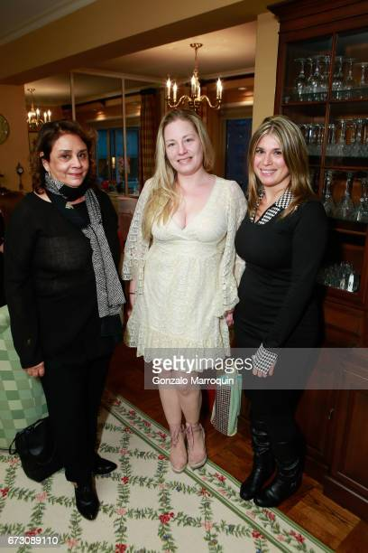 Diane Reverand Genevieve Malandra and Ashley Papa attend the Paul Dee Dee Sorvino celebrate their new book Pinot Pasta Parties at 200 East 57th...
